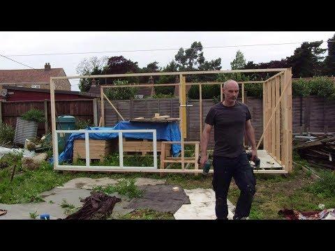 Pallet wood workshop build.  Part 3