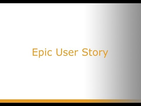Epic User Stories