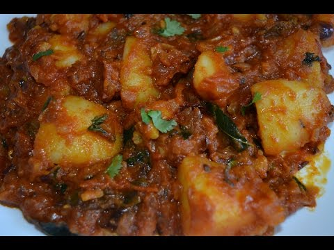 Spicy Potato Curry in Restaurant Style