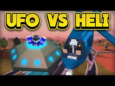 INSANE UFO VS HELICOPTER RACE! (ROBLOX Jailbreak)