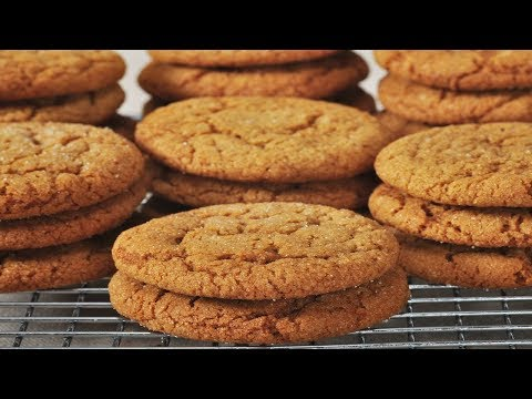 Molasses Cookies Recipe Demonstration - Joyofbaking.com