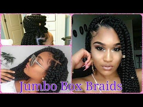 PROTECTIVE STYLE || JUMBO BOX BRAIDS FOR BEGINNERS IN LESS THAN 1 HOUR (HOW TO BRAID YOUR OWN HAIR)