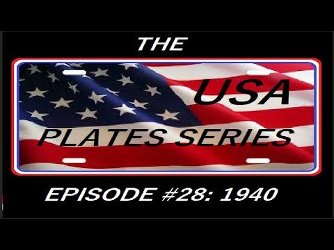 USA Plates Series #28 1940