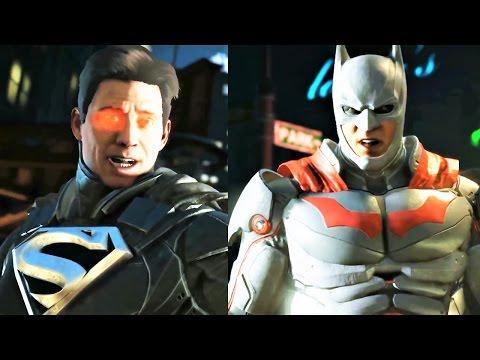 INJUSTICE 2 - All Batman Vs Superman Intro! NEW BATMAN/SUPERMAN GEAR SKIN