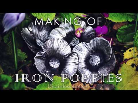 Making Of : Stainless steel Poppies Brooches
