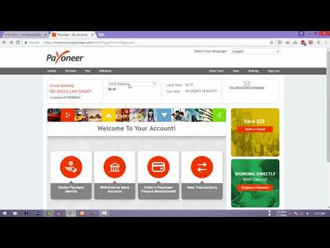 How to Create a Payoneer Account and Get Free MasterCard