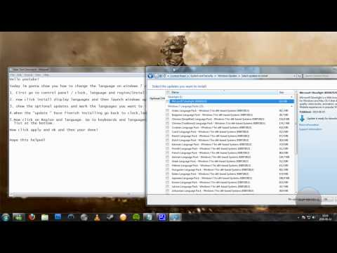 How to change language on Windows 7 Ultimate(HD)