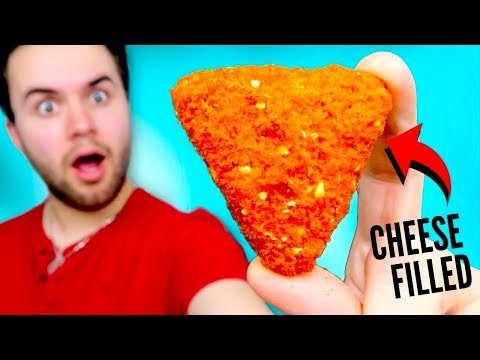 TASTING CHEESE STUFFED DORITOS - Cool Ranch & Nacho Cheese REVIEW