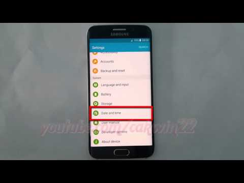 Android Lollipop : How to Change Time zone manually on Samsung Galaxy S6