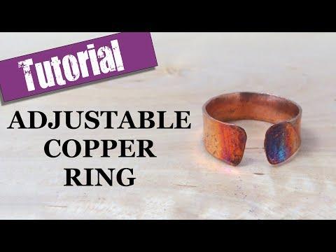 Adjustable Copper Ring  - Jewellery Tutorial