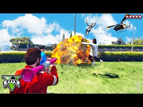 GTA 5 EPIC Gunners Versus Choppers - HASHTAG KABOOM!! GTA 5 Funny Moments