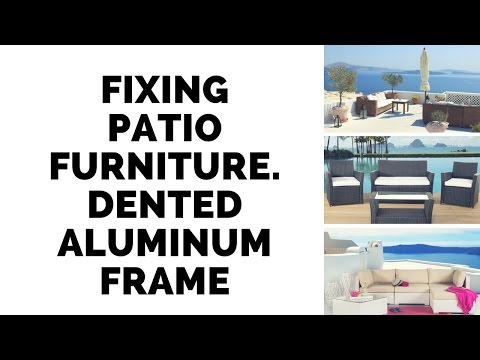 Fixing a wicker patio chair with bent aluminum frame