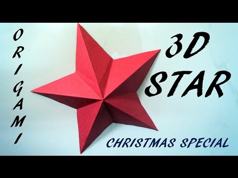How to make a 3D paper star | Easy origami stars for beginners | Christmas Special