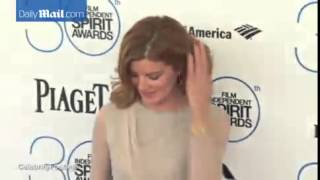 Rene Russo Stuns In Sheer Nude Dress At