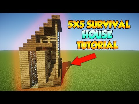 Minecraft: 5X5 Starter Survival House - How to build a Survival House in Minecraft