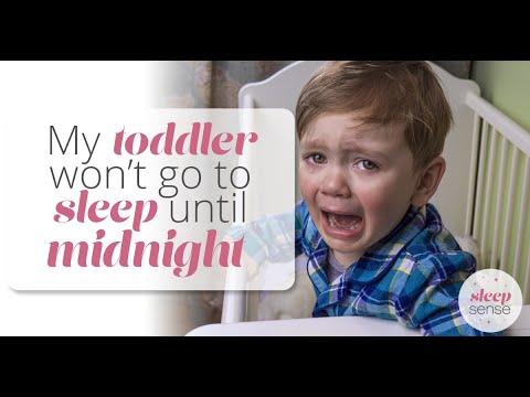 My toddler won't go to sleep until midnight... HELP!