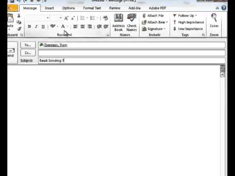 How to Send Email Messages With Microsoft Outlook
