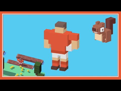 UNLOCK ☆ Rugby Player ☆ Crossy Road - New Secret Character - Use the Squirrel