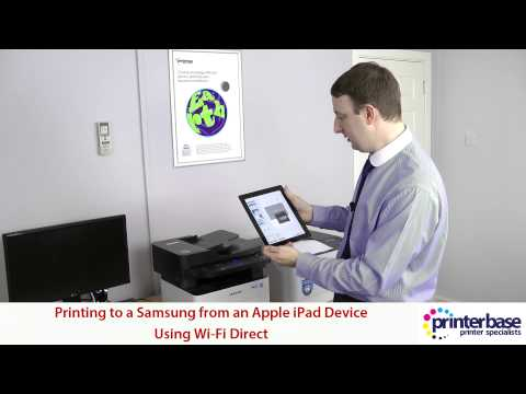 Printing from Apple iPad (iPhone, iPod Touch) to a Samsung Printer via Wi-Fi Direct