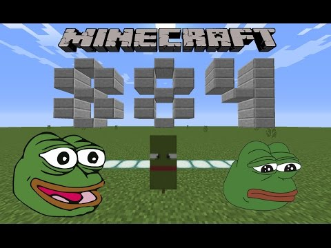 How to make a Pepe the frog banner in Minecraft!!