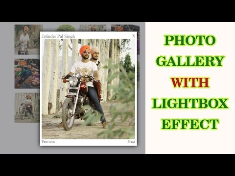 How to make lightbox effect for photo gallery with HTML and CSS only. (NO JAVASCRIPT)