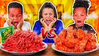 SPICY VS EXTREME SPICY FOOD CHALLENGE WITH THE PRINCE FAMILY!!