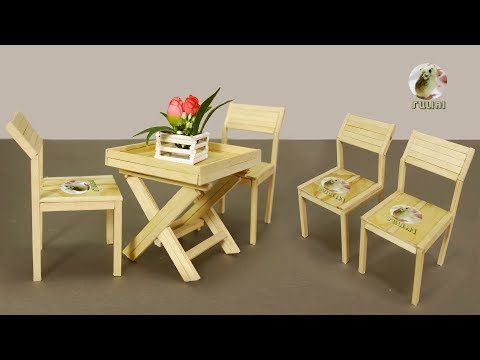 Miniature Table & Chairs Design & DIY – How to Make Outdoor, Garden & Coffee Table & Chairs