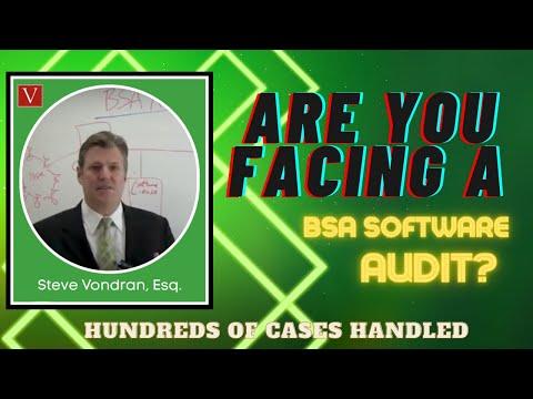 Business Software Alliance (BSA) Audits by Attorney Steve