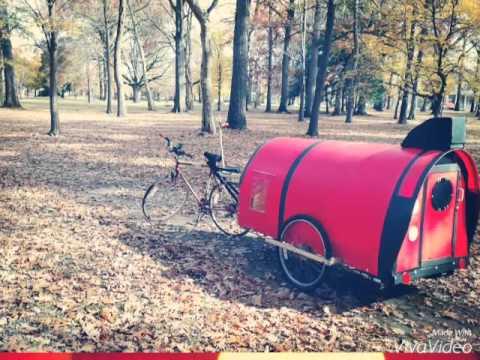 DIY Bicycle Camper Caravan Trailer The Rocketeer