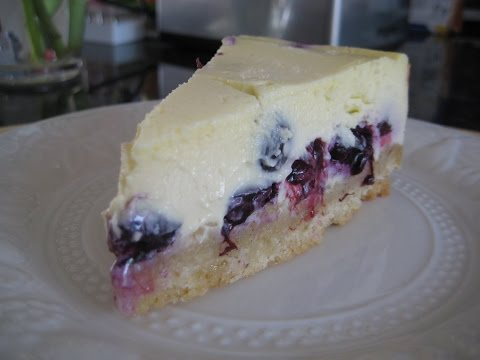 How to Make Cheesecake - A Baked Blueberry Cheesecake