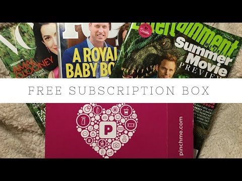 Leiloando Ideias: FREE Subscription Box + FREE Magazine Subscriptions PINCHME April/2018
