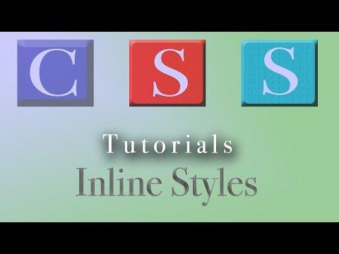 CSS Tutorial | Inline Styles