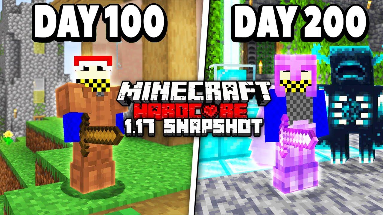 I survived 200 Days in 1.17 Minecraft Hardcore...