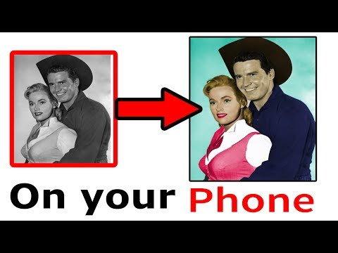 Make Colour photo from a black and white image on your Mobile