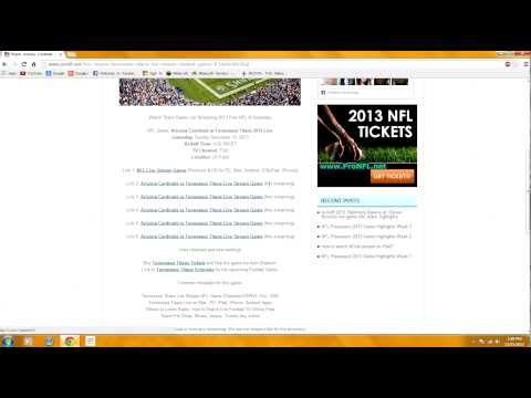 HOW TO WATCH ANY NFL FOOTBALL GAME FREE LIVE STREAMING 2013-14