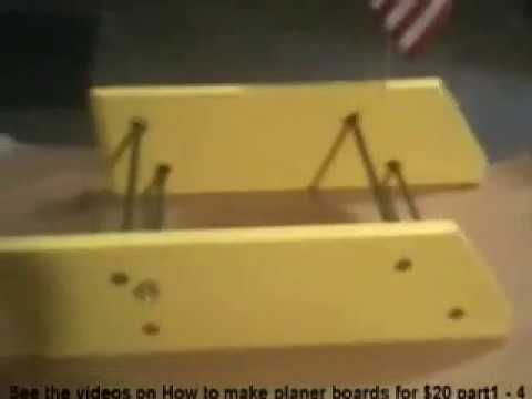 Planer boards for trolling. How to make a set of planer boards for $20 fast easy and strong part 1-4