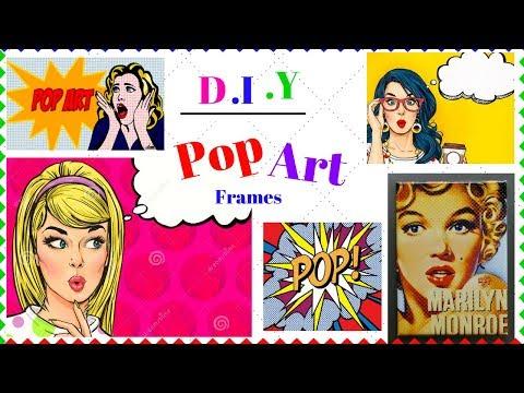 DIY  Quirky Pop Art Frames I How to make Pop Arts at Home I DIY India I Simi Bella