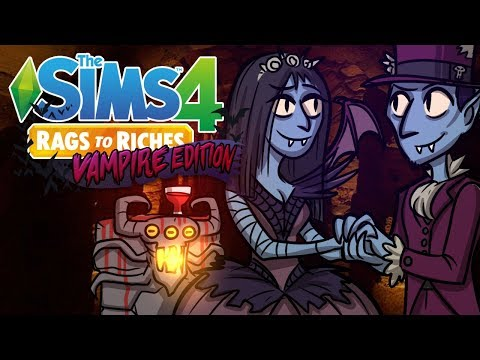 Vampire Wedding!! | The Sims 4 Rags to Riches Vampire | Sims 4 Let's Play Ep.8