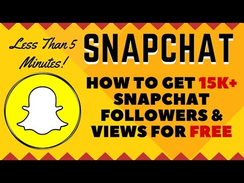 How To Gain REAL Snapchat Followers & REAL Snapchat Views For FREE in Minutes