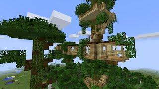 скачать карту дом на дереве в minecraft #5