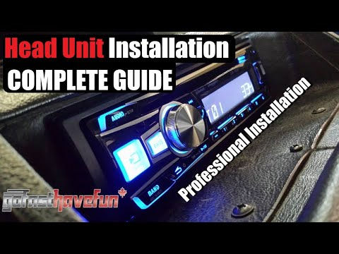 Car STEREO Installation step by step (Head Unit Install)