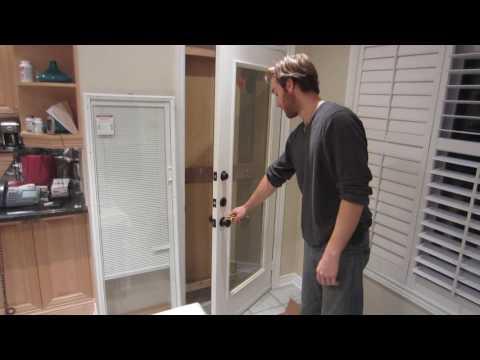 Removing Glass door insert
