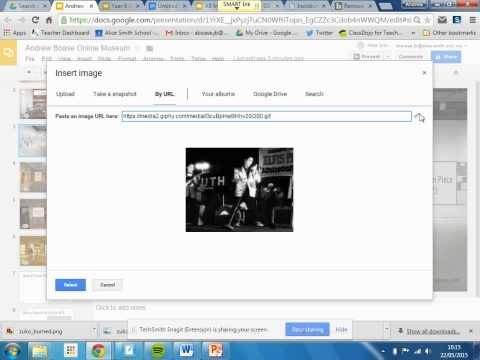 Adding gifs to your Google slide.