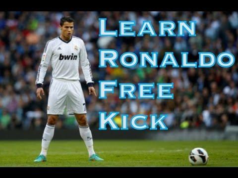 Learn Cristiano Ronaldo Free Kick - Football Soccer skills