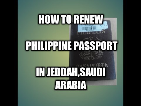 Passport Renewal:HOW TO RENEW PHILIPPINE PASSPORT IN JEDDAH?|2018