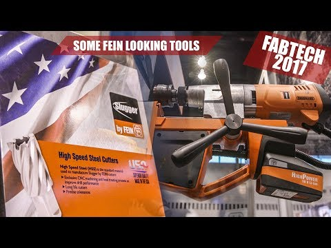 FEIN TOOLS - Battery Mag Drill, Metal Saw with Worm Drive & More -  FABTECH EXPO 2017 | JG STORIES