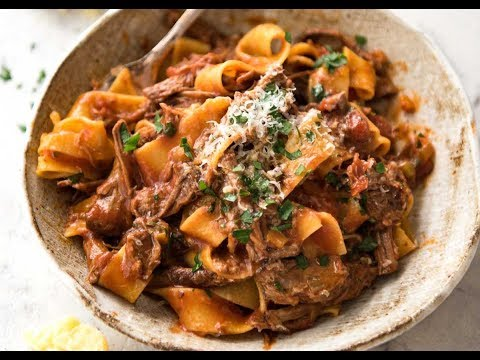 Slow Cooked Shredded Beef Ragu with Pappardelle