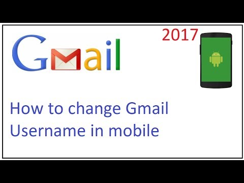 how to change gmail username in mobile