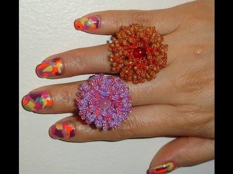 Handmade Jewelry: Coral Flower Ring