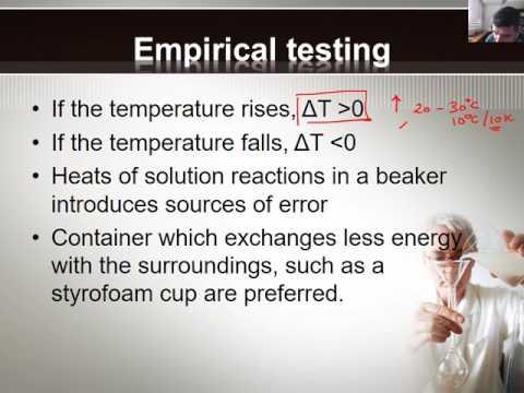 W#22 Molar heat of solution